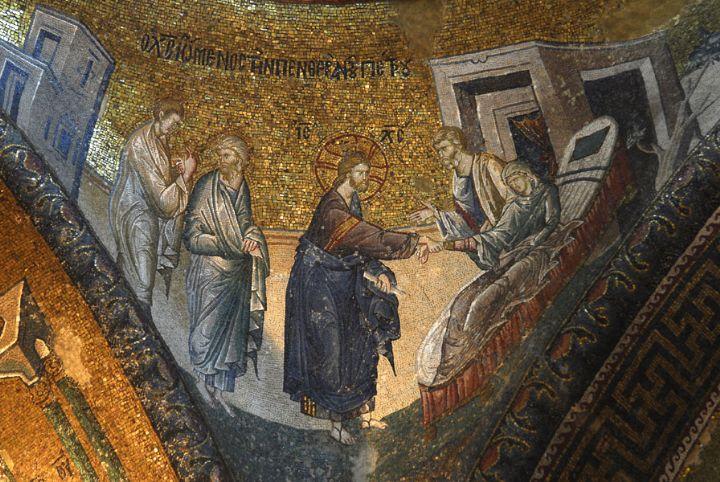 Jesus heals St. Peter's mother-in-law